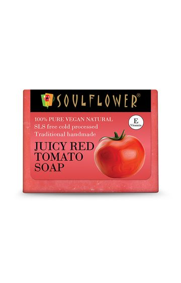 Soulflower   Juciy Red Tomato Soap - 150gm