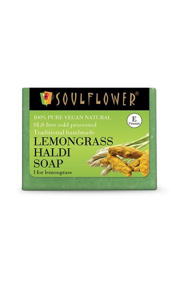 Soulflower   Lemongrass Haldi Soap - 150gm