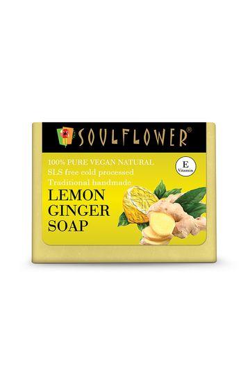 Soulflower   Lemon Ginger Soap - 150gm