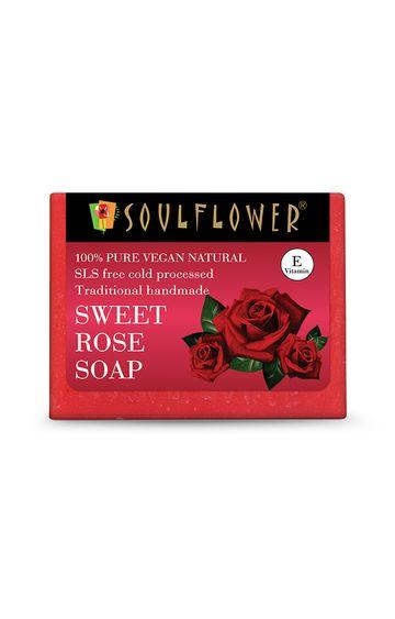 Soulflower   Sweet Rose Soap - 150gm