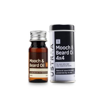 Ustraa | Mooch and Beard Oil 4x4 35ml