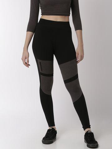 De Moza | De Moza Ladies Ankle Length Leggings Cotton Black