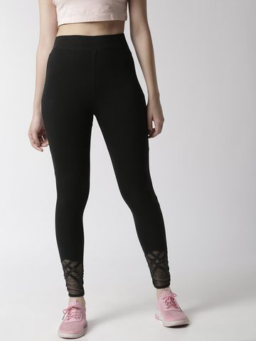 De Moza | De Moza Ladies Ankle Length Leggings Cotton Black