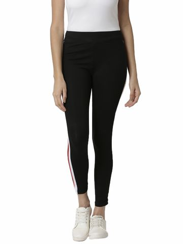 De Moza | De Moza Ladies Ankle Length Leggings Cotton Red