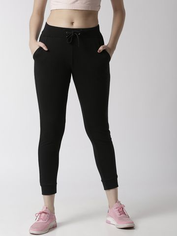 De Moza | De Moza Ladies Jogger Solid Cotton Black