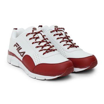 FILA   White Running Shoes
