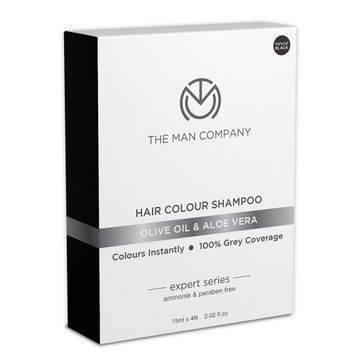The Man Company | The Man Company Hair Colour Shampoo Black - Olive Oil and Hibiscus , Black