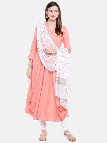 Ethnicity | Ethnicity Off White Silk Women Dupatta
