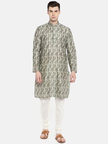 Ethnicity | Ethnicity Grey Polyester Men Kurta