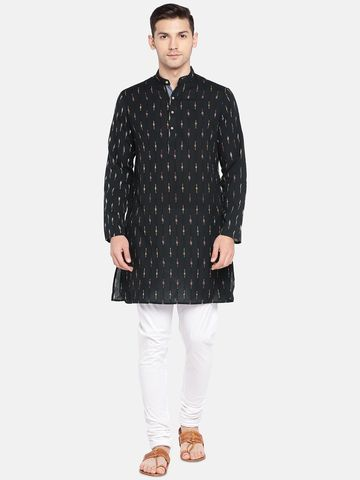 Ethnicity | Ethnicity Black Cotton Men Kurta