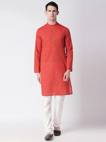 Ethnicity | Ethnicity Maroon Cotton Men Kurta