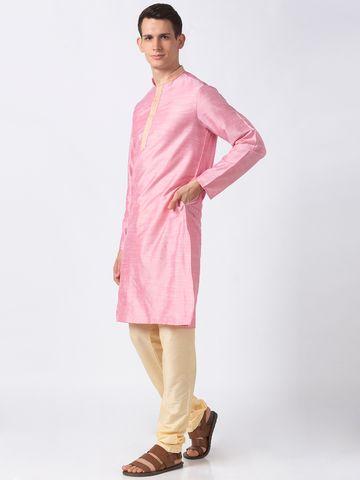 Ethnicity | Ethnicity Pink Polystaple  Men Kurta