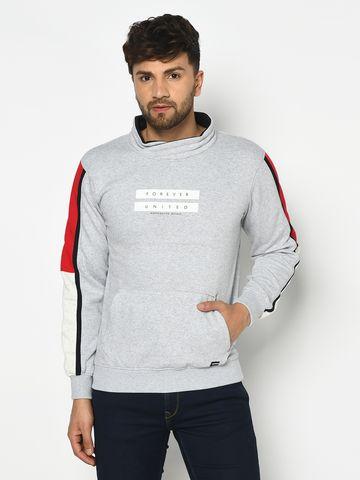 OCTAVE   Men'S GREY MELANGE Sweatshirts