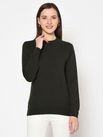 METTLE | WOMEN'S DARK OLIVE Sweaters