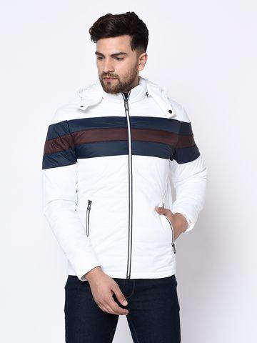 METTLE | Men's WHITE Front Open Jackets