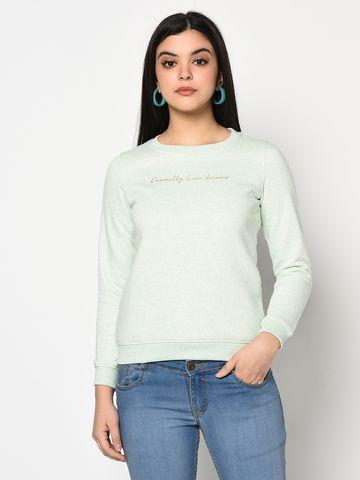 METTLE   Women MINT MELANGE Sweatshirts