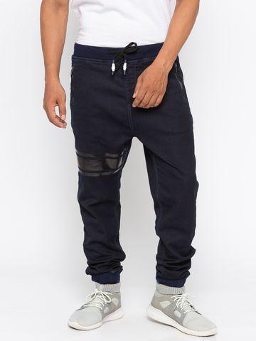 spykar | Spykar Navy Solid jogger Fit Jeans