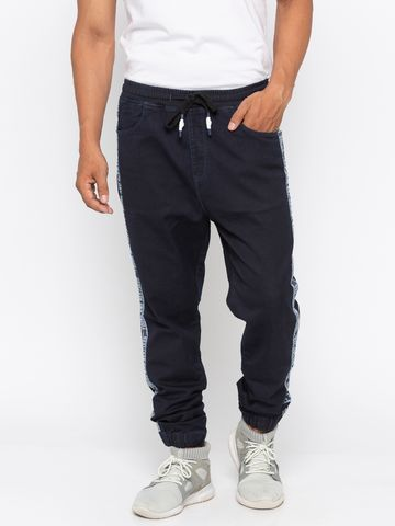spykar | Spykar Raw Blue Solid jogger Fit Jeans