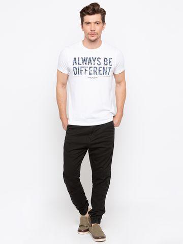 Spykar | Spykar Black Solid jogger Fit Jeans