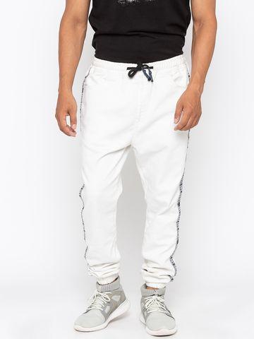 Spykar | Spykar Cotton White Joggers Jeans