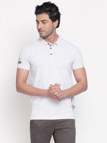 spykar | spykar Grey Cotton T-Shirts