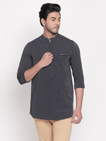 Spykar | spykar Navy Striped Slim Fit Casual Shirt