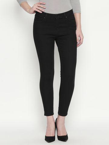 Spykar | Spykar Black Solid Slim Fit Jeans