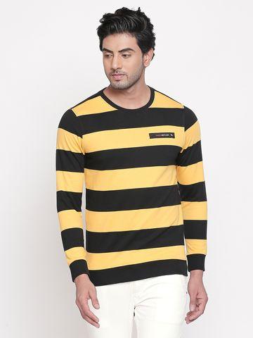 spykar   spykar Black Cotton T-Shirts