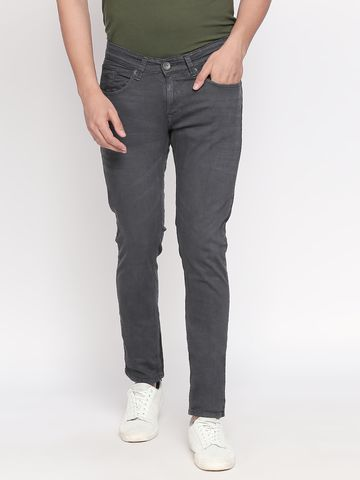 Spykar | Spykar Charcoal Solid Tapered Jeans