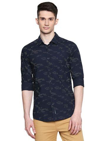 Spykar | spykar Cotton Blue Shirt