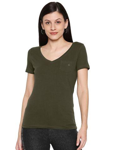 spykar | Spykar Cotton Green T-Shirts