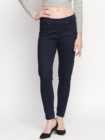 spykar   Spykar Indigo Solid Skinny Fit Jeans
