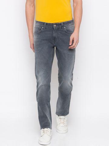 Spykar | Spykar Ash Smoke Solid Tapered Jeans