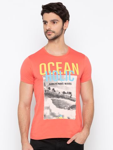 spykar | spykar Coral Solid Slim Fit T-Shirt