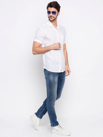 Spykar | spykar White Linen Casual Shirt