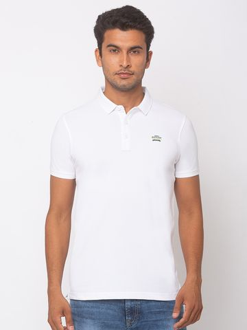 spykar | Spykar Cotton White T-Shirts
