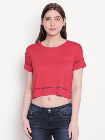 spykar | spykar Red Crop Fit Top