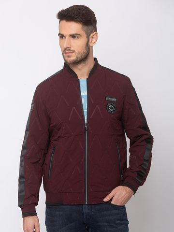 spykar | SPYKAR Wine POLYESTER STRAIGHT FIT JACKETS