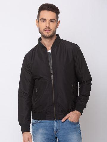 Spykar   spykar Black Polyester Straight Fit Jacket