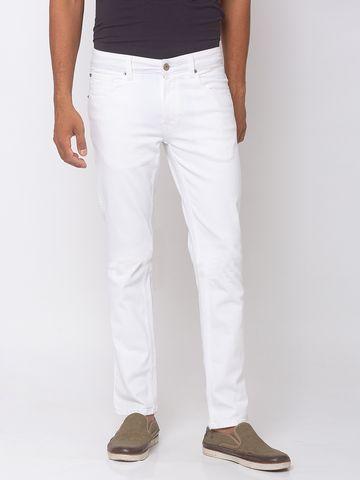 Spykar   spykar White Skinny Low Rise Jeans