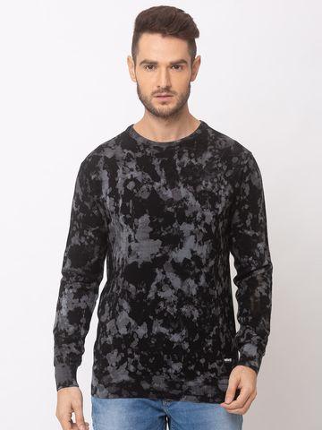 spykar | spykar Black Cotton Regular Fit Sweater