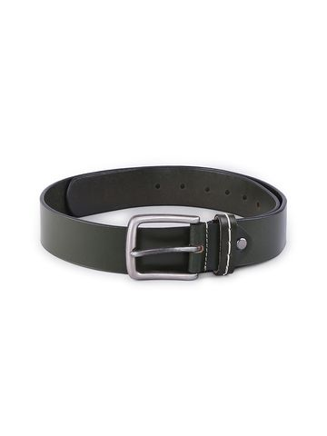 spykar | SPYKAR Olive Genuine Leather BELT