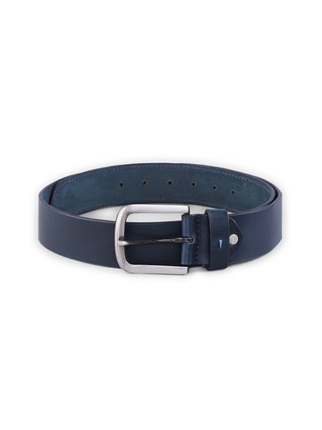 spykar | SPYKAR Navy Blue  Genuine Leather BELT