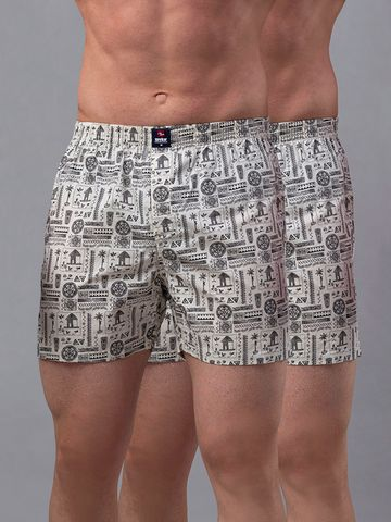 spykar   Underjeans White Cotton Boxers - Pack of 2