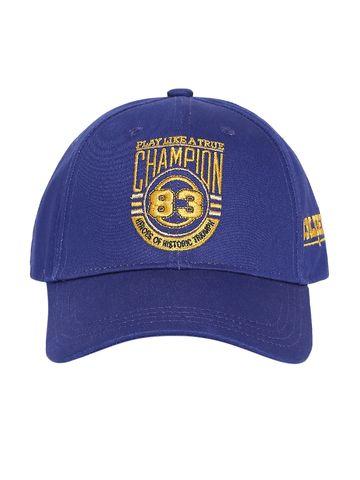 Spykar   Spykar Cotton Royal Blue Cap