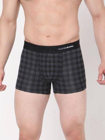 spykar | Underjeans BLACK-CHECK Cotton Trunks