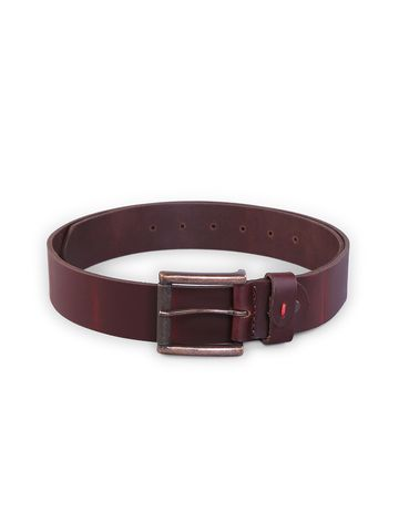 spykar | SPYKAR Brown Genuine Leather BELT