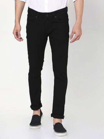 Spykar | Spykar Black Cotton Skinny Jeans