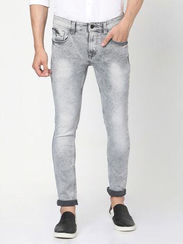 Spykar | Spykar Grey Cotton Skinny Jeans