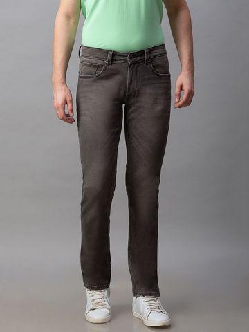 Spykar | Spykar Black Cotton Low Rise Regular Fit Jeans (Rover)